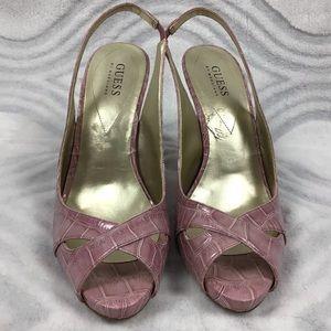 Guess purple/pink heels